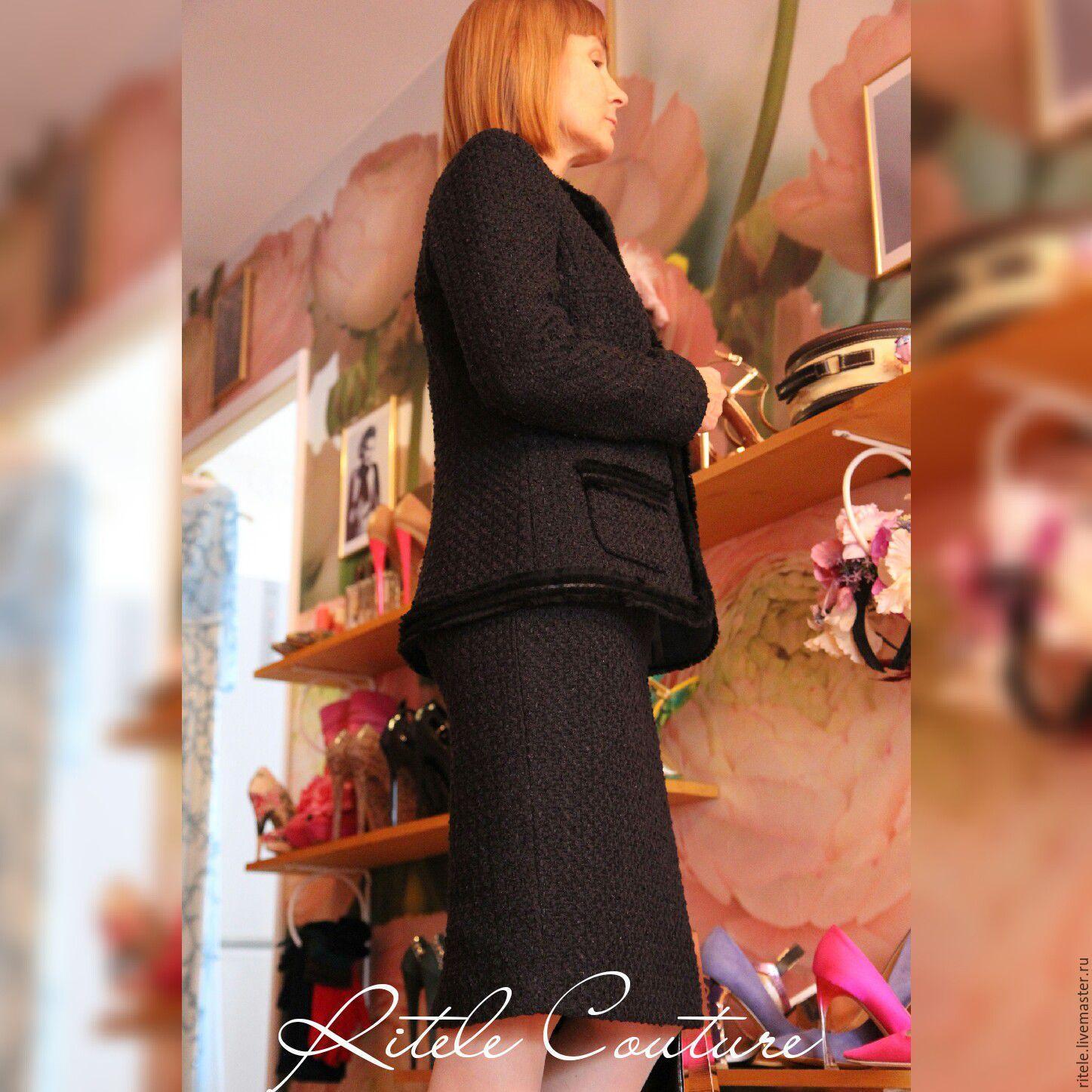 Женский твидовый костюм купить доставка