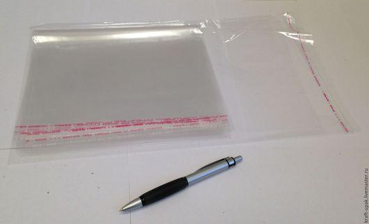 Упаковка ручной работы. Ярмарка Мастеров - ручная работа. Купить Пакеты БОПП с клеевым клапаном 23х36 10шт. Handmade. Прозрачный