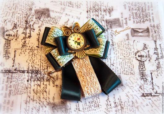 Брошь-галстук `Совушка` сделает Вас особенной, выделит из толпы. Украшение прекрасно дополнит образ и украсит блузку. Возможно изготовить и в другой цветовой гамме. Работа Покусаевой Марины (Romashka)