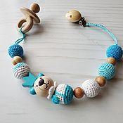 Работы для детей, handmade. Livemaster - original item Nipple / pacifier holder