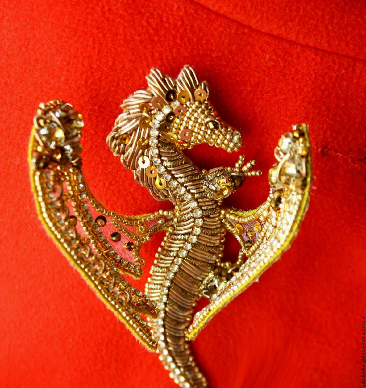 Brooch Golden dragon, Brooches, Azov,  Фото №1