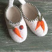 Обувь ручной работы. Ярмарка Мастеров - ручная работа Морковки. Тапочки детские. Handmade.