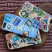 """Сумки и аксессуары ручной работы. Ярмарка Мастеров - ручная работа Чехол для iPhone 5/5s """"Приглашение к путешествию"""". Handmade."""