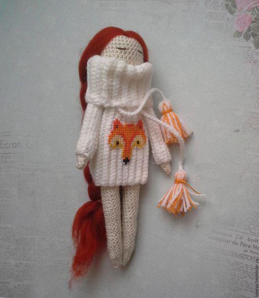 Человечки ручной работы. Ярмарка Мастеров - ручная работа. Купить Вязанная куколка. Handmade. Кукла, Вязанная кукла, коллекционная кукла