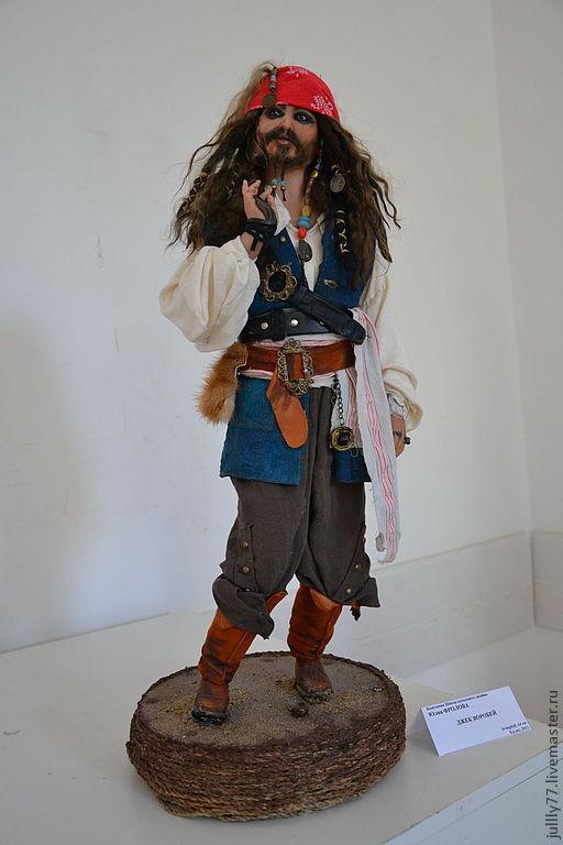 Коллекционные куклы ручной работы. Ярмарка Мастеров - ручная работа. Купить пират Джек Воробей. Handmade. Портретная кукла, ЛивингДолл