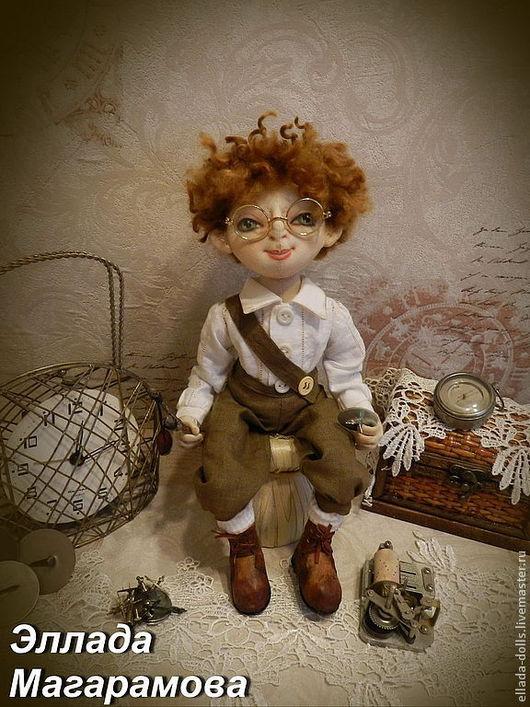 Коллекционные куклы ручной работы. Ярмарка Мастеров - ручная работа. Купить Текстильная кукла Томас для Елены.. Handmade. Текстильная кукла