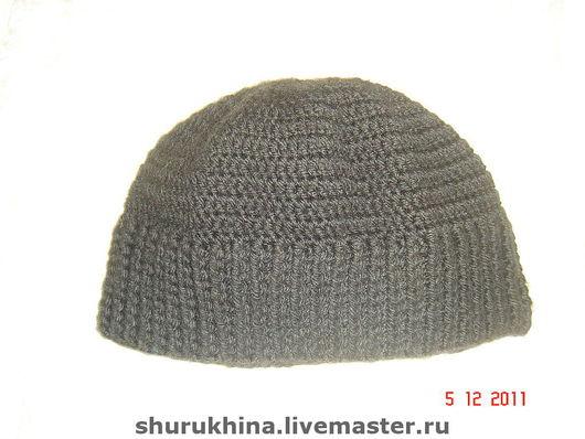 """Шапки ручной работы. Ярмарка Мастеров - ручная работа. Купить шапка """"black"""". Handmade. Шапка, шапка вязаная, шапка крючком"""
