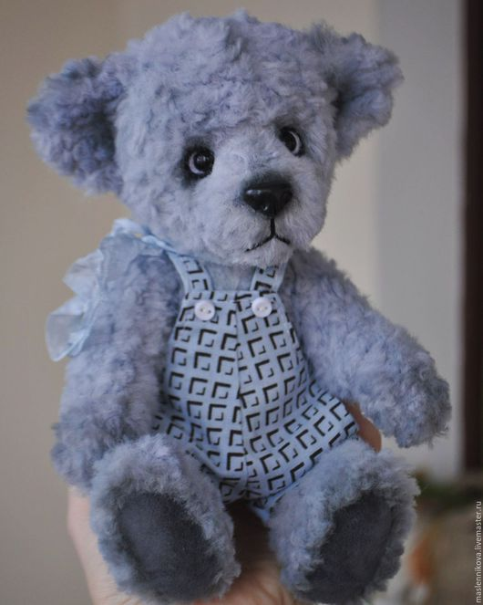 Мишки Тедди ручной работы. Ярмарка Мастеров - ручная работа. Купить Медведь Нико (20см) НА ЗАКАЗ. Handmade. Голубой