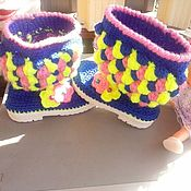 Обувь ручной работы. Ярмарка Мастеров - ручная работа Сапожки Малышам. Осень. Handmade.