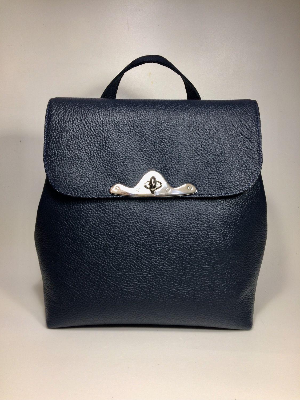 НИАГАРА-синий кожаный рюкзак, оттенок ниагара, Рюкзаки, Москва,  Фото №1