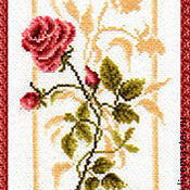 Материалы для творчества handmade. Livemaster - original item Set for embroidery a cross rose Reflection. The glitter of dew.. Handmade.