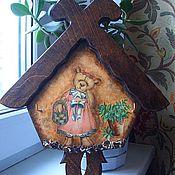 """Для дома и интерьера ручной работы. Ярмарка Мастеров - ручная работа Вешалка-ключница """"Мишкин домик"""". Handmade."""
