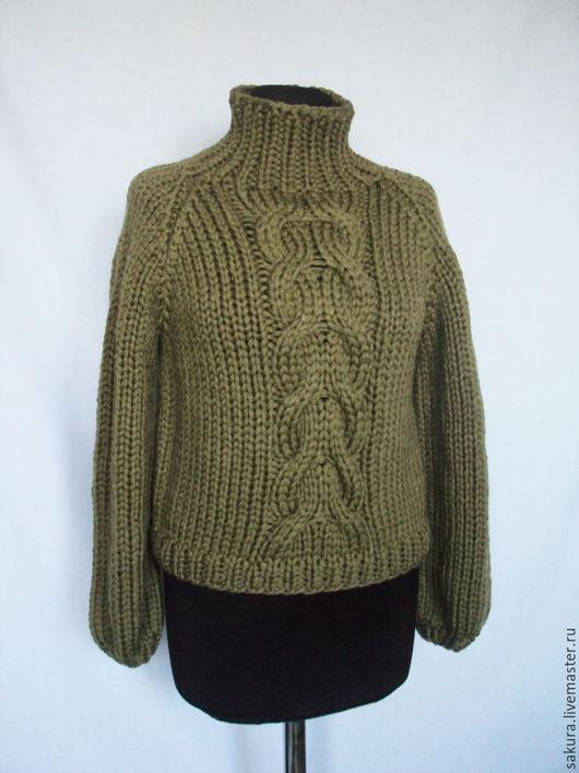 """Кофты и свитера ручной работы. Ярмарка Мастеров - ручная работа. Купить Свитер """"Манчестер"""". Handmade. Хаки, стильный свитер, оверсайз"""