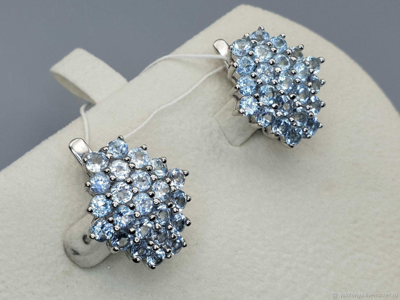 Earrings with Topaz sterling silver, Earrings, Moscow,  Фото №1