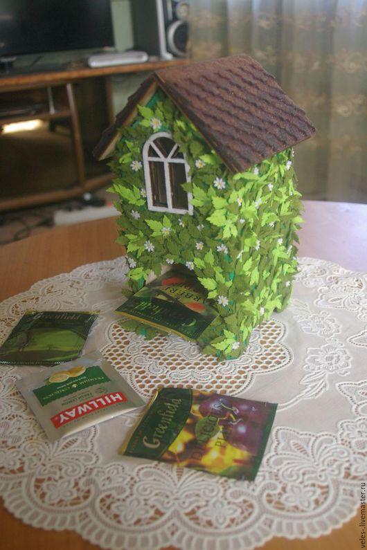 Подарочные наборы ручной работы. Ярмарка Мастеров - ручная работа. Купить чайный домик. Handmade. Зеленый, чайный домик