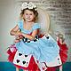 Алиса в стране чудес. Карнавальный костюм нарядное платье. Платья. Юлия Кихтенко. Детские платья. Интернет-магазин Ярмарка Мастеров.  Фото №2