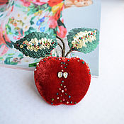 handmade. Livemaster - original item Brooch Apple. Handmade.