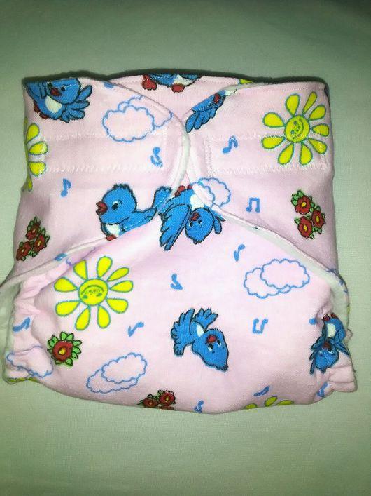 """Для новорожденных, ручной работы. Ярмарка Мастеров - ручная работа. Купить Памперсы многоразовые """" Мамина забота"""" цвет розовый. Handmade."""