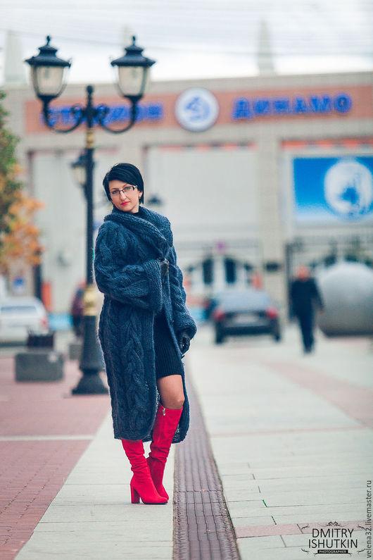 """Верхняя одежда ручной работы. Ярмарка Мастеров - ручная работа. Купить Пальто """"Незнакомка"""". Handmade. Темно-серый, пальто на заказ"""