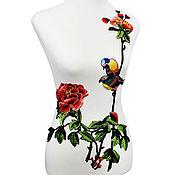 Материалы для творчества handmade. Livemaster - original item Peerless embroidery, applique. Wren. Handmade.