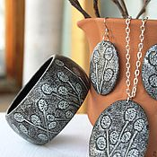 Украшения handmade. Livemaster - original item Set bracelet earrings pendant palm Sunday. Handmade.