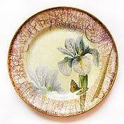 """Посуда ручной работы. Ярмарка Мастеров - ручная работа Тарелка """"Ирис"""". Handmade."""