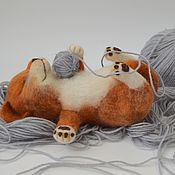 Куклы и игрушки handmade. Livemaster - original item Interior toy is made of wool: