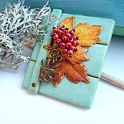 Украшения handmade. Livemaster - original item Brooch Artist autumn. Handmade.