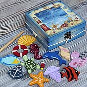 """Куклы и игрушки ручной работы. Ярмарка Мастеров - ручная работа Игровой набор """"Морская рыбалка"""". Handmade."""