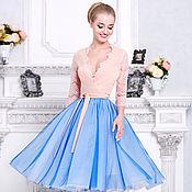 Одежда ручной работы. Ярмарка Мастеров - ручная работа Фатиновая юбка в миди длине ! Модная юбка. Handmade.