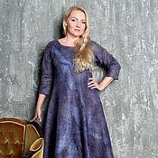 """Одежда ручной работы. Ярмарка Мастеров - ручная работа Авторское валяное платье """"Lavender twilight"""". Handmade."""
