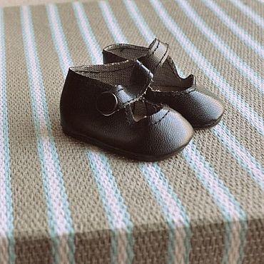 Материалы для творчества ручной работы. Ярмарка Мастеров - ручная работа Туфли для кукол Т43-С черные. Handmade.