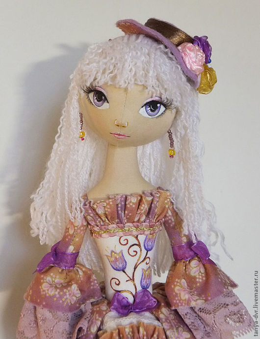 Коллекционные куклы ручной работы. Ярмарка Мастеров - ручная работа. Купить Виолетта. Handmade. Брусничный, кружево