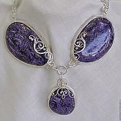 Украшения handmade. Livemaster - original item Necklace with charoite Purple temptation. Handmade.