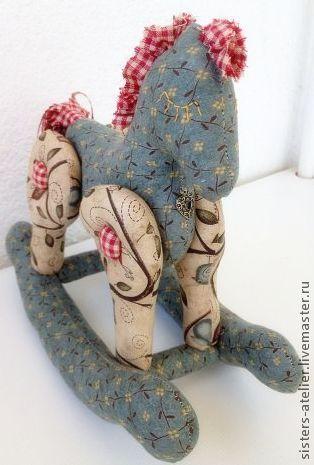 Куклы Тильды ручной работы. Ярмарка Мастеров - ручная работа. Купить текстильная лошадка-качалка  Сонная Лошадка. Handmade.