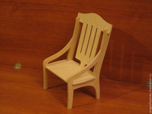 Кукольный дом ручной работы. Ярмарка Мастеров - ручная работа. Купить кресло 3 для куклы 40см.. Handmade. Бежевый