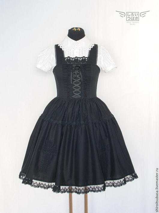 Платья ручной работы. Ярмарка Мастеров - ручная работа. Купить Платье со шнуровкой (D20/CW9). Handmade. Черный, кружево