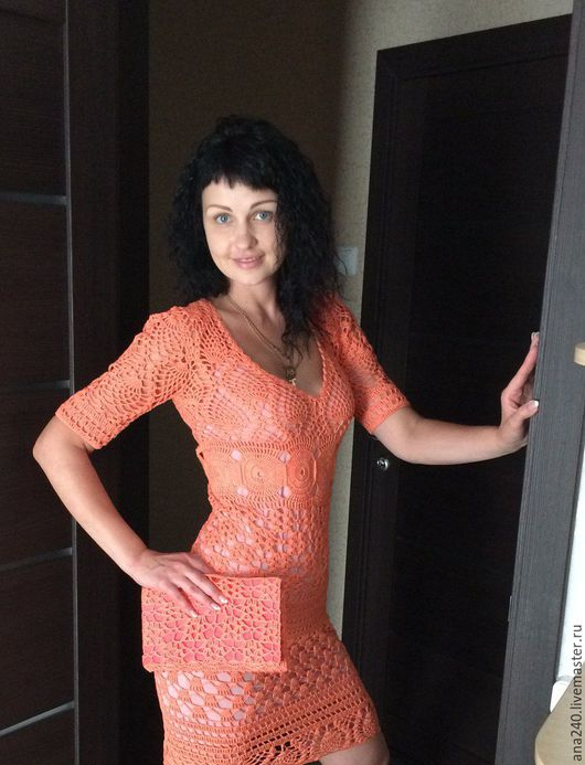 """Платья ручной работы. Ярмарка Мастеров - ручная работа. Купить Вязаное платье крючком """"Восход"""". Handmade. Вязанное платье"""