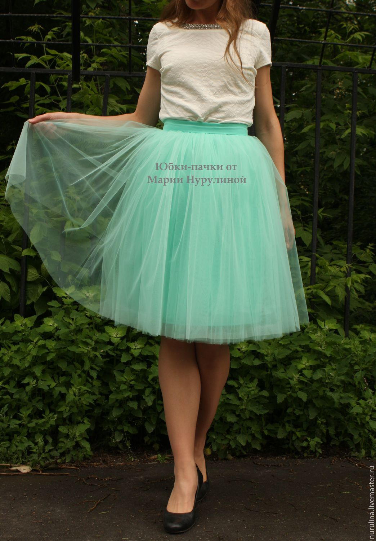 Фатин атлас юбка