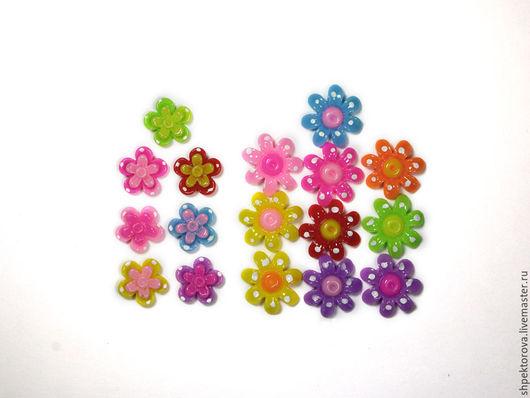 Другие виды рукоделия ручной работы. Ярмарка Мастеров - ручная работа. Купить Кабошоны цветы акриловые. Handmade. Разноцветный, кабошоны