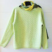 Одежда ручной работы. Ярмарка Мастеров - ручная работа Просто нежно.. (пуловер женский, вязаный) 48 размер. Handmade.