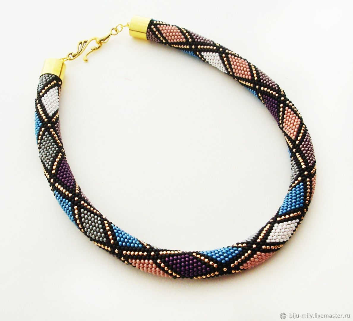 Harness beaded Just diamonds, Necklace, Abakan,  Фото №1