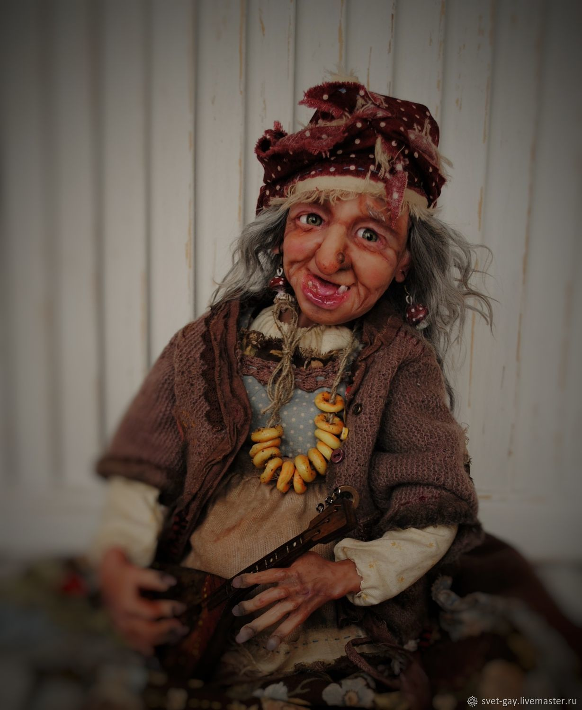 Куклы: Баба Яга с балалайкой, Куклы и пупсы, Североморск,  Фото №1