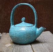 Посуда ручной работы. Ярмарка Мастеров - ручная работа Бирюзовый чайник. Handmade.