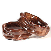 Украшения ручной работы. Ярмарка Мастеров - ручная работа Браслет из древесины черного ореха. Handmade.