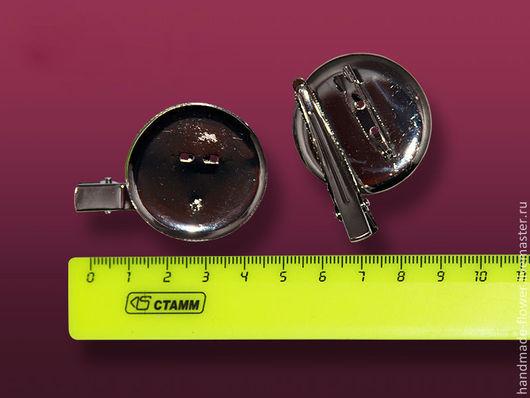 V-27 Заколка (4,5 см.) +брошь-основа 3,5 см