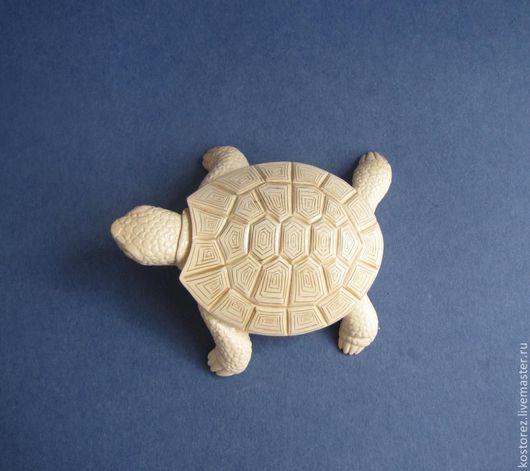 Миниатюрные модели ручной работы. Ярмарка Мастеров - ручная работа. Купить Черепаха из бивня мамонта. Handmade. Белый, черепашка