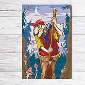 """Открытки ручной работы. Ярмарка Мастеров - ручная работа Открытка для посткроссинга """"Баба-Яга"""". Handmade."""