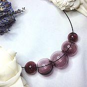 Украшения manualidades. Livemaster - hecho a mano Collar de color amatista de soplado de cuentas .Lempvork. Handmade.