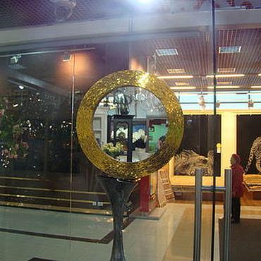 Для дома и интерьера ручной работы. Ярмарка Мастеров - ручная работа Зеркало в мозаичной раме, золотое сияние. Handmade.